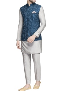 teal-blue-embroidered-nehru-jacket