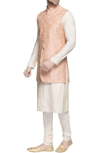 peach-raw-silk-long-jacket