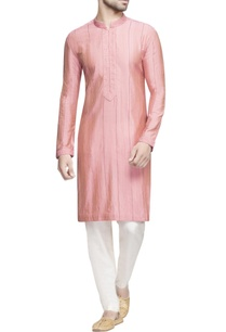 pink-spun-silk-textured-kurta