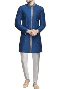 blue-embroidered-raw-silk-sherwani