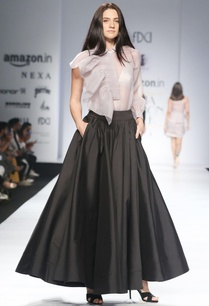 black-super-flared-maxi-skirt