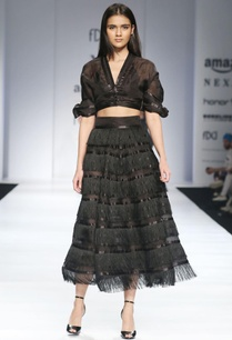 black-tiered-style-skirt