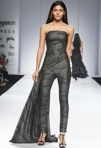 metallic-grey-corset-drape-trousers