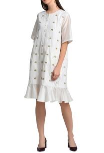 white-ruffle-detail-dress