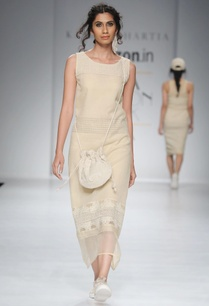 beige-thread-embroidered-shift-dress