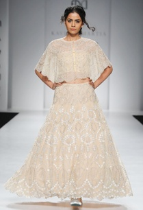 beige-embroidered-cape-lehenga-skirt
