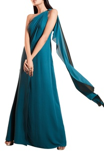 blue-georgette-flowy-gown