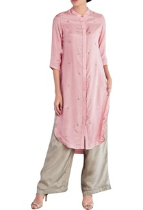 pink-thread-embroidered-kurta
