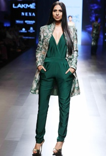 green-jumpsuit-with-a-deep-neckline-jacket