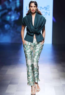 green-cowl-neck-jacket-with-pants