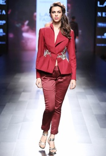 red-peplum-style-jacket-pants
