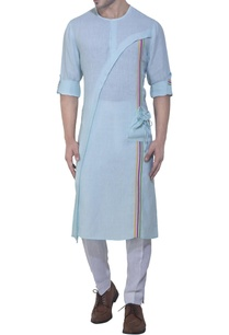 aqua-blue-kurta-in-stripe-details