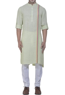 lime-green-linen-kurta