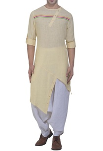 yellow-asymmetric-kurta-harem-pants