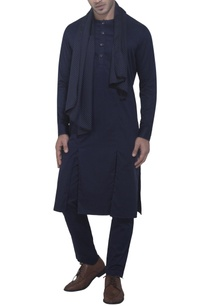 blue-kurta-with-attached-drape
