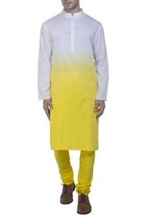 yellow-white-ombre-style-kurta