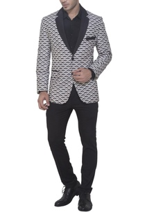 black-white-moustache-print-jacket