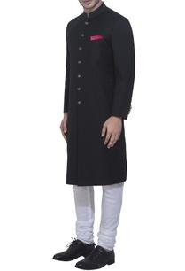 black-achkan-jacket-white-churidar