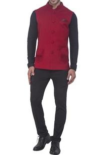 maroon-semi-pashmina-jacket