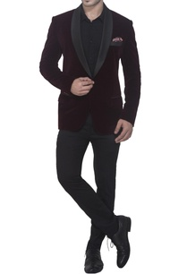 burgundy-brown-tuxedo-jacket