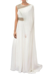 ivory-georgette-draped-jumpsuit