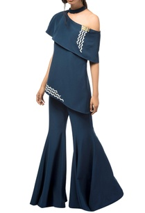 navy-blue-butter-crepe-silk-bell-bottom-jumpsuit