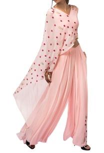 sorbet-pink-georgette-resham-colored-sequin-pant-set