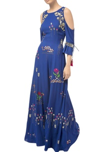 royal-blue-cold-shoulder-hand-embroidered-gown