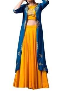 yellow-bead-embellished-lehenga-jacket