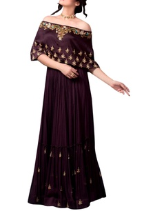 burgundy-sequin-embellished-lehenga