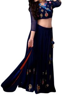 blue-lehenga-angarakha-blouse