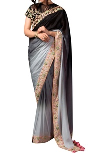 black-grey-ombre-sari-and-blouse