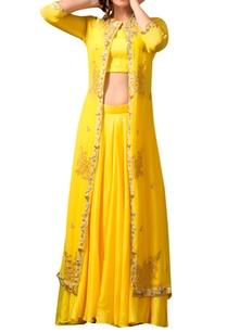 yellow-skirt-embellished-jacket