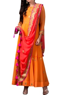 orange-anarkali-in-gota-patti-work