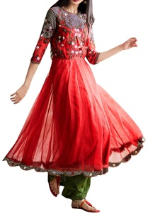 red-floral-embroidered-anarkali-set