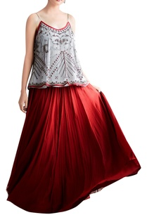 red-bead-embroidered-skirt-top