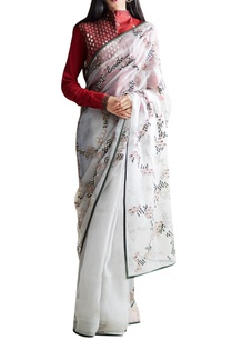maroon-grey-embroidered-sari-blouse