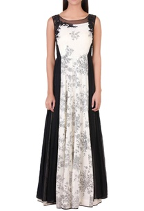 black-white-sequin-embellished-gown