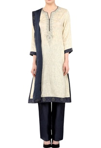 white-blue-embroidered-kurta-set