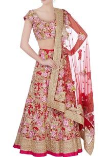 red-pink-floral-bridal-lehenga-set