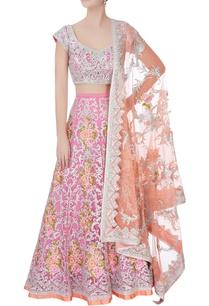 pastel-pink-sequin-sangeet-lehenga-set