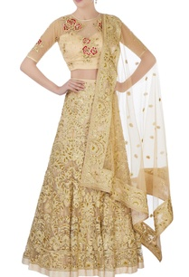 gold-sequin-bridal-lehenga-set