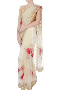 ecru-floral-sari-with-blouse-piece-petticoat