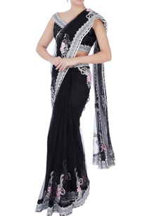 black-sequin-sari-with-blouse-petticoat