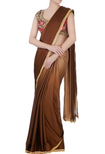 brown-sari-with-floral-blouse-petticoat