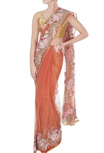 peach-floral-embroidered-sari