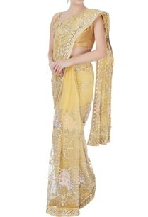 yellow-sequin-sari-with-petticoat