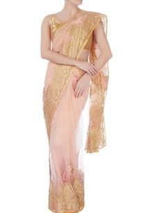 beige-floral-lace-work-sari