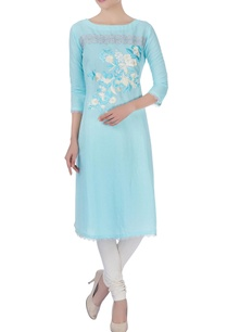 blue-floral-kurta-with-lace-borders