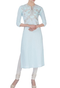 blue-kurta-in-resham-thread-embroidery